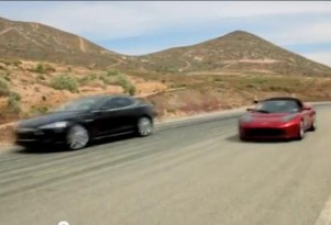Secret Tesla Video? Model S Sedan, Roadster Shown On The Road Together
