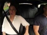 Tesla Model S P85D 'Insane' mode acceleration  [frame capture from DragTimes video]