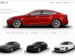 Tesla Model S pre-owned page screencap