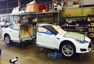 Tesla Model S: better electric stretch limo than Nissan Leaf?