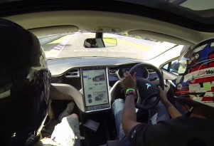 Tesla Model S tackles the Nurburgring