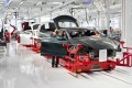 Tesla Model S undergoing assembly