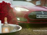Tesla Model S Valentine's Day video screencap
