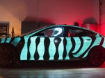 Tesla Model S with LumiLor electroluminescent light coating