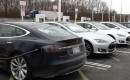 Tesla Road Trip from MD to CT, Feb 2013 - Tesla Model S cars at Delaware SuperCharger location