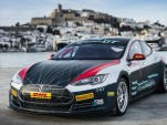 Tesla Model S Electric GT Championship race car