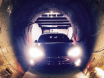 Tesla Model S inside The Boring Company tunnel