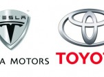 Tesla Motors and Toyota logos