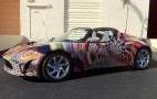 Tesla Follows BMW's Lead And Rolls Out Roadster Art Car