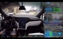 Tesla self-driving demonstration video screenshot