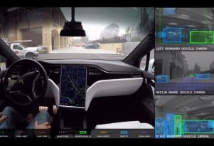 What a prototype self-driving Tesla 'sees' on public roads