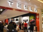 Tesla Store opening in Westfield Mall, London, Oct 2013