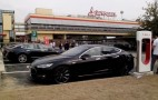 Would you recharge your Tesla electric car at a gas station?