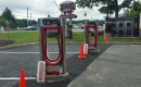 Tesla Supercharger site in Newburgh, New York, under construction - June 2015