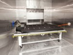 Tesla Motors - Model S lithium-ion battery pack in environmental test chamber