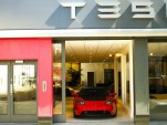 Tesla's flagship London location in Knightsbridge