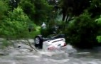 Texas Jeep Swept Away In Flash Floods, Lesson Learned: Video