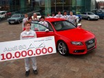 The 10 millionth mid-size car was a Misano Red 2012 Audi S4