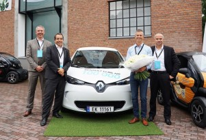 Renault delivered its 100,000th electric car on Friday, in Norway