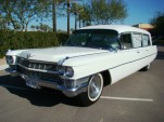 The 1964 Miller-Meteor Cadillac hearse offered by Barrett-Jackson. Image: Barrett-Jackson