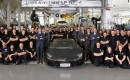 The 2,000th Lamborghini Aventador is built