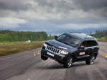 The 2012 Jeep Grand Cherokee in Teknikens Varld testing - image courtesy of Teknikens Varld