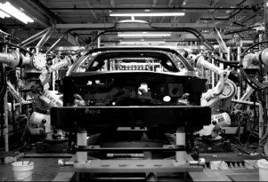 The 2014 Chevrolet Corvette's assembly line