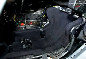 The custom-molded driver's seat of the SLS AMG GT3