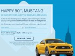 The Ford Mustang nameplate officially turns 50 on April 17, 2014