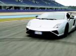 The Lamborghini Gallardo LP 570-4 Squadra Corse hits the track
