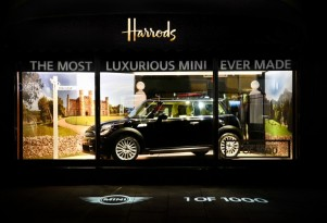 The MINI Inspired By Goodwood, on display at Harrods