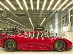 The Porsche 918 Spyder assembly line