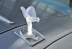 The Rolls-Royce Spirit of Ecstasy hood ornament, now available in four materials