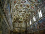 The Sistine Chapel. Image by Wikimedia user Antoinetav under CC 3.0.