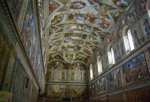 The Sistine Chapel. Image by Wikimedia user Antoinetav under CC 3.0.