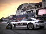The SLS AMG GT3 at the Verva Street Racing festival in Warsaw, Poland