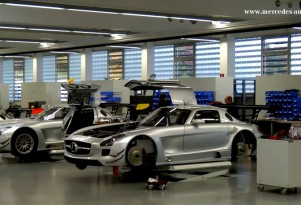 The SLS AMG GT3, under construction.