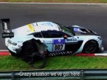 The Stuck brothers' Aston Martin Vantage GT3 race car runs into trouble on the 'Ring