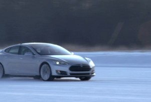 How To Drive On Ice, Tesla Model S-Style