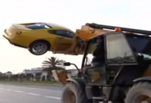 Thieves use oversized forklift to steal Ben Ali's Ferrari 599 GTB