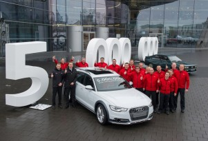 This 2013 A6 Allroad is Audi's five millionth vehicle with quattro all-wheel drive