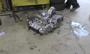 This is an engine cut in half
