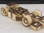 This is an F1 car built from matches using no glue to hold it together