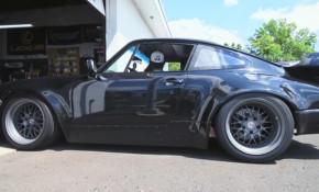 This Porsche 930 911 has a Honda engine out back