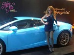 Tila Tequila with her Lamborghini Gallardo