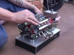 Tiny nitro-powered V-8 engine