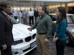Tom & Meredith Moloughney get keys to first BMW ActiveE electric car delivered in U.S., Jan 2012
