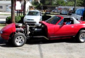 Tony Hair's V-16 twin-engine Miata