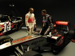 Tony Stewart and Lewis Hamilton to swap race cars. Photo courtesy Mobil 1.