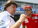 Tony Teixeira talks with Felipe Massa